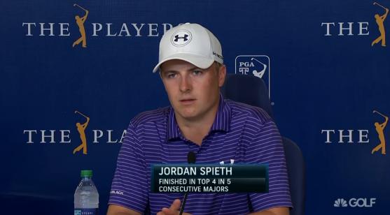 "Jordan Spieth ""People moved on"""