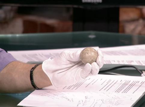 Matt Checks out 1840s Feathery Golf Ball